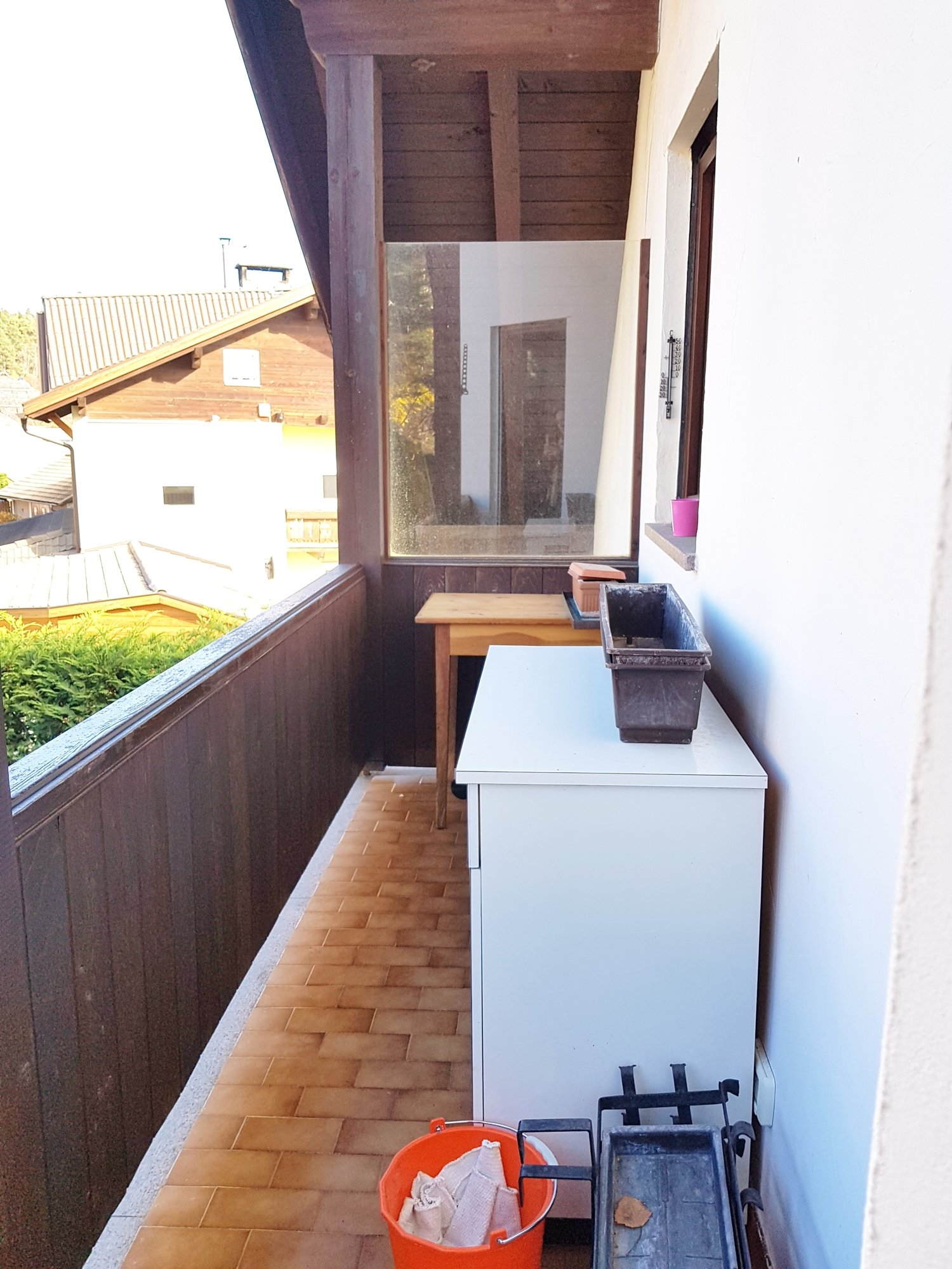 geräumiger Balkon