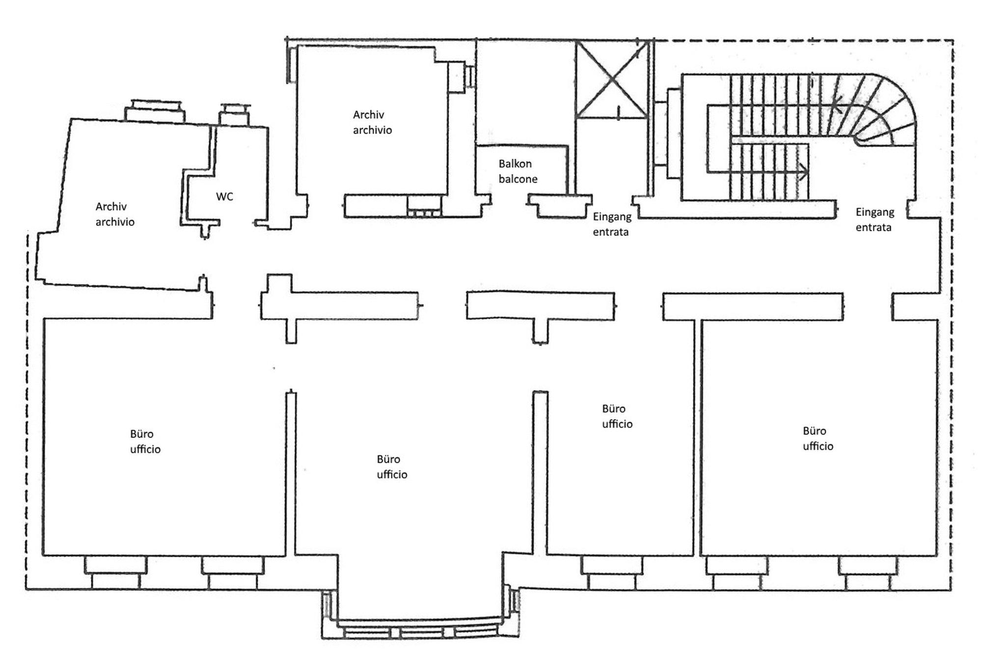 Plan Büroeinheit_piantina unità ufficio