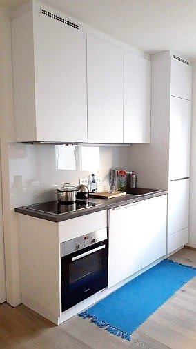 Küche mit schönem Holzboden