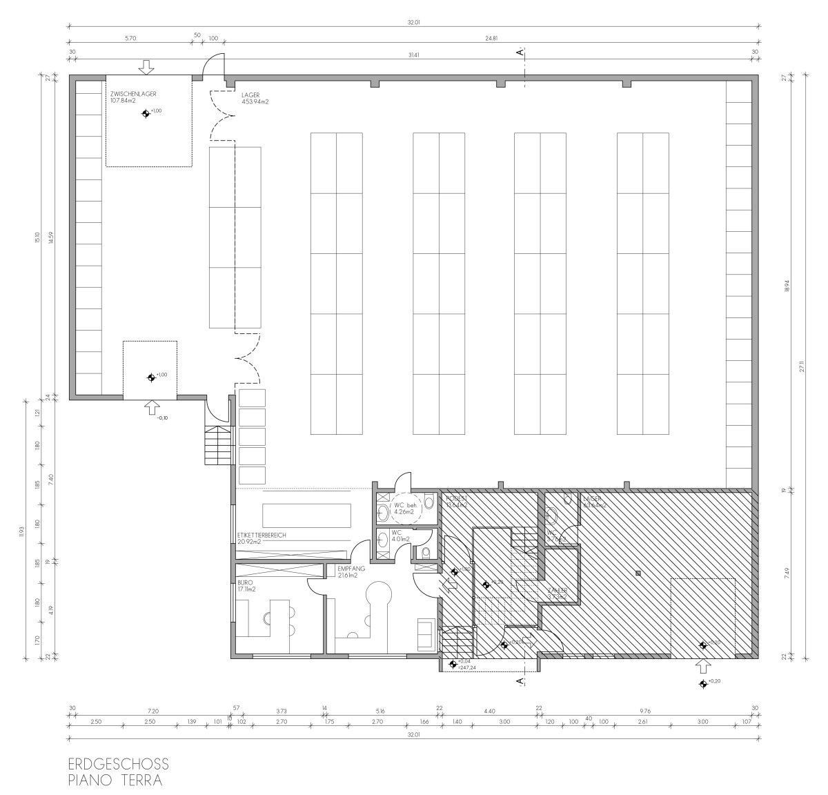 Plan Erdgeschoss - pianta piano terra