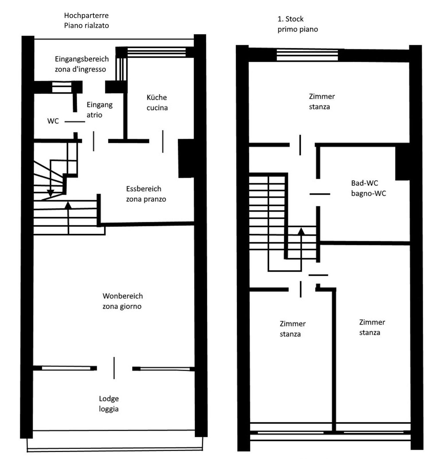 Plan der Wohnung 100