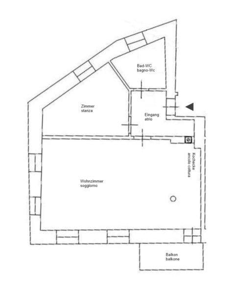 Plan Wohnung/planimetria