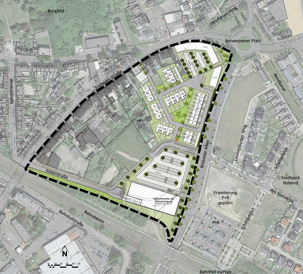 Lageplan_Stadtquartier_BruesselerAllee_Viersen_Allgemein_Nummerierung