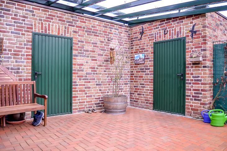 Zugang Garage + Schuppen...