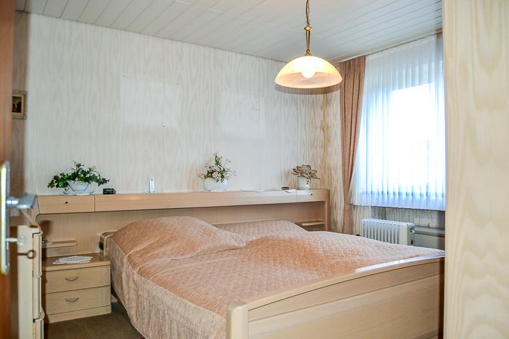 Schlafzimmer im Erdgeschoss...