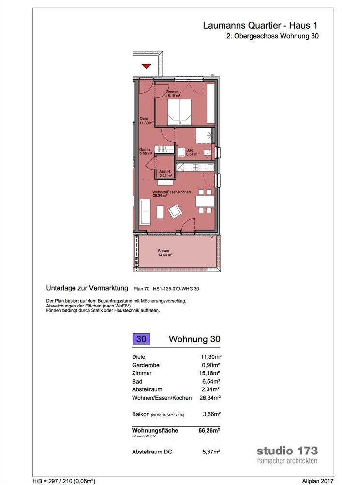 Grundriss/Wohnung 30
