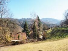Blick von oben auf das Grundstück und die Umgebung