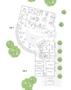 Grundriss EG 1 & EG 2 | Büroräume (B), Sporträume (SP), Empfang (E)
