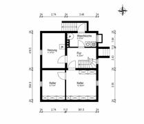Grundriss Skizze Kellergeschoss