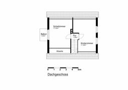 Grundriss Skizze Dachgeschoss