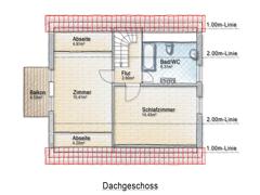 Dachgeschoss-Skizze