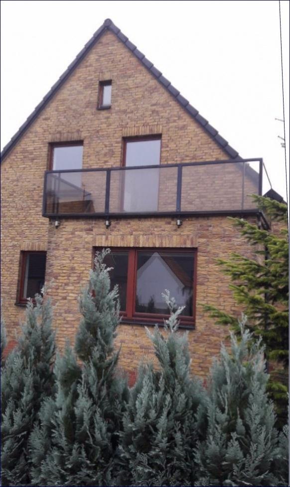 Ansicht mit Balkon
