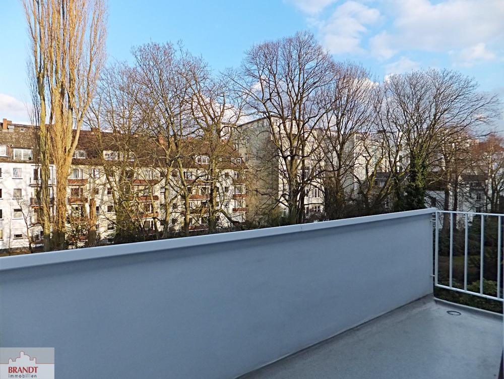 Balkon hinten zum Garten