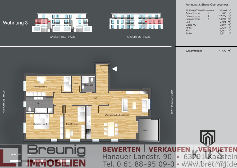 Wohnung 3 - OG links