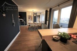 Blick von der Küche (Penthouse)