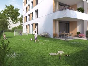 Erdgeschoss mit eigenem Garten