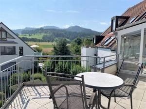 Balkon mit Blick zum Giersberg