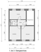 Grundriss 1. bis 3. Obergeschoss