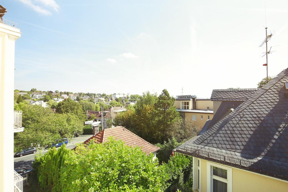 Blick vom großen Balkon