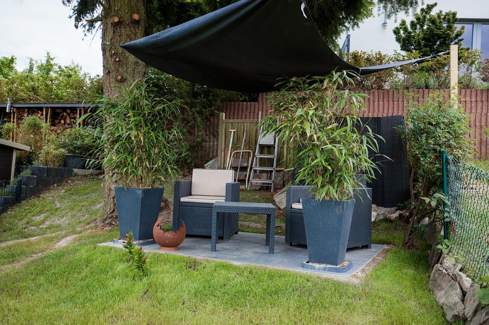Terrasse im oberen Gartenbereich