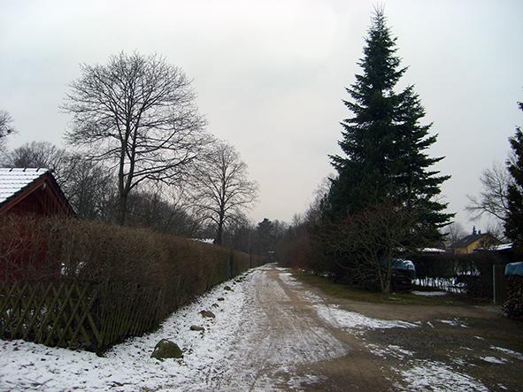 Ansicht Weg Kleingärten
