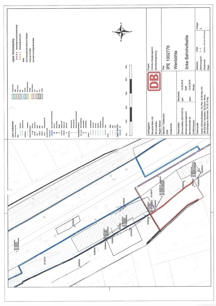 Lageplan Abwasseranlagen