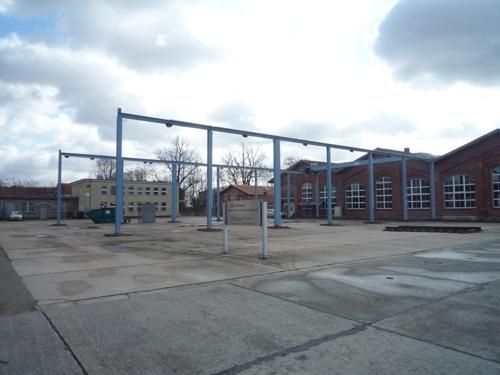 Blick auf Werkhalle Teilbereich 1