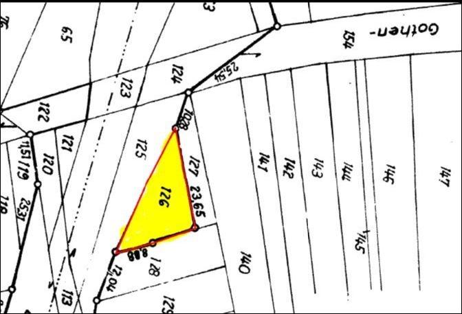 Lageplan Verkaufsfläche, Flst.126