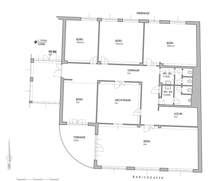 Plan - Ungargasse 59 -61 - 1. Stock - Top 102-B40