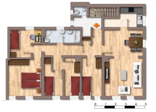 Grundriss 5 Zimmer