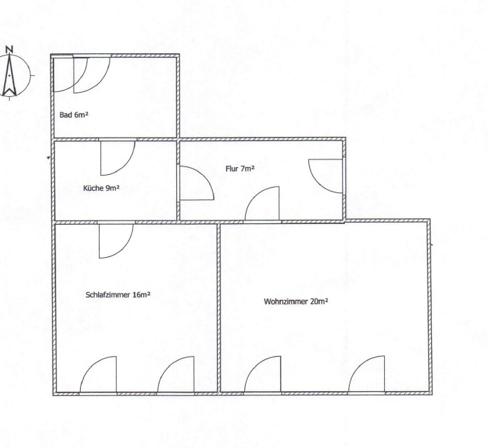 Grundriss 2-Raum