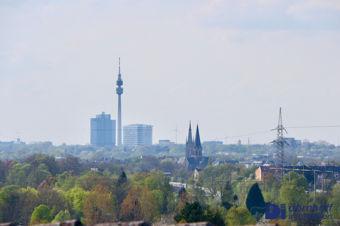 Fernsicht auf die Dortmunder Innenstadt