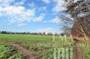 Blick auf Wiesen und Felder