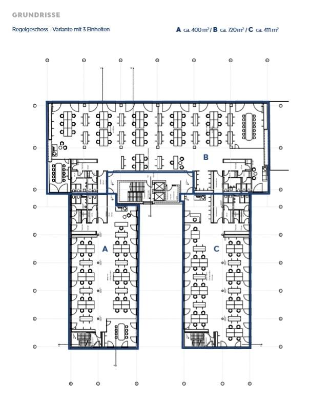Grundriss Regelgeschoss Variante 3
