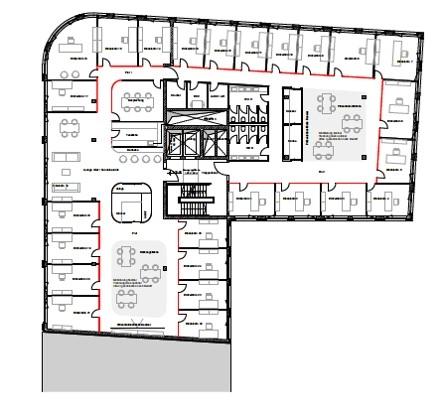 Grundriss Regelgeschoss - Einzelbüros