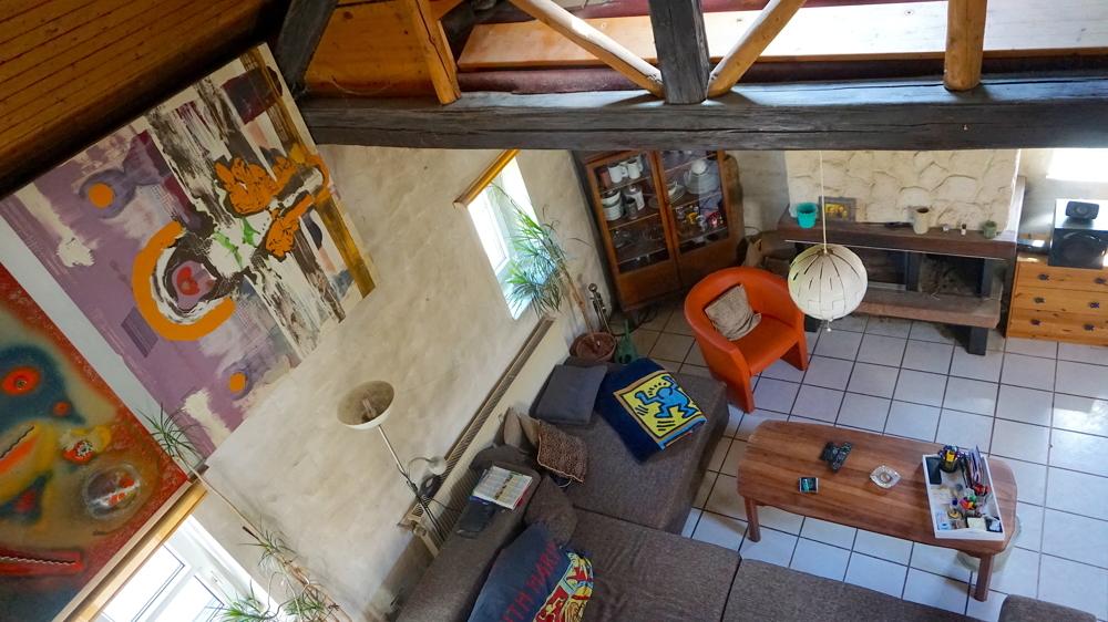 Wohnbereich von oben