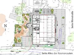 Lageplan Allee der Kosmonauten 25A Ecke Rhinstraße