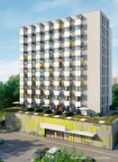 Neubauprojekt von der Rhinstraße aus gesehen