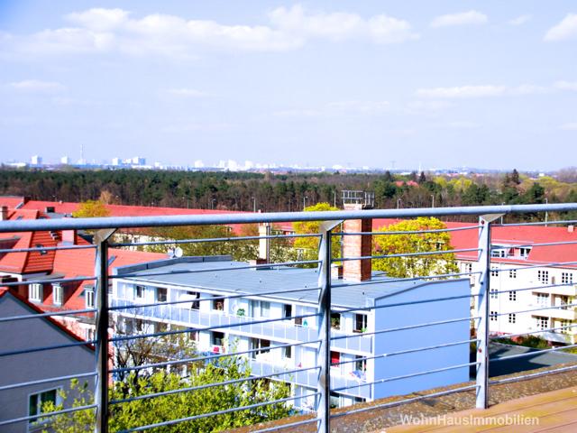 Blick von Ihrer Dachterrasse auf die Wuhlheide