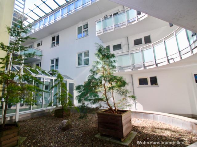 bepflanzter Innenhof