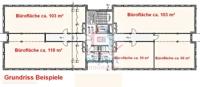 Grundrissbeispiel Etage aufgeteilt