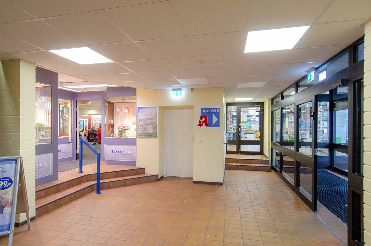 Eingangsbereich des Ärztehauses