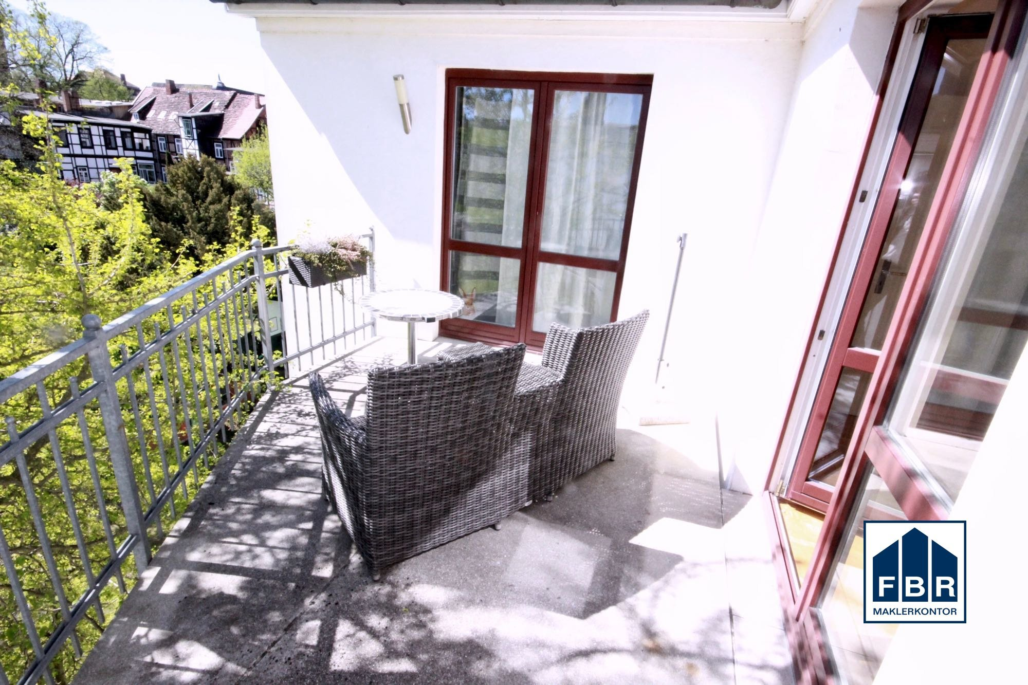 gemeinsamer Balkon