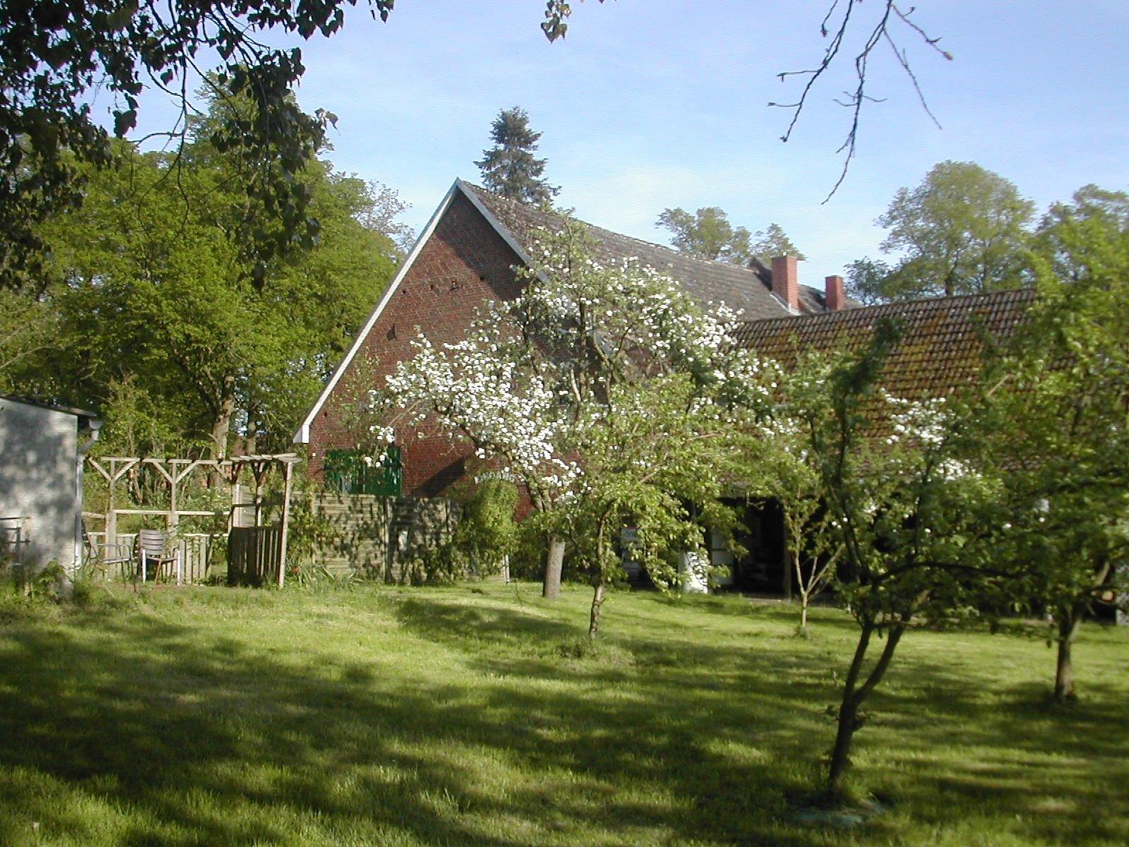 Grundstücksbereich u. Rückansicht des Hauses