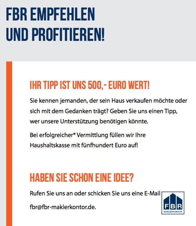 500 Euro für Sie!