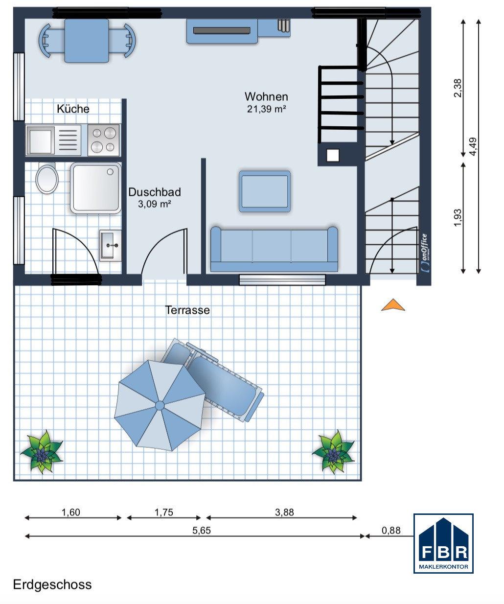 Erdgeschoss Möbliervorschlag