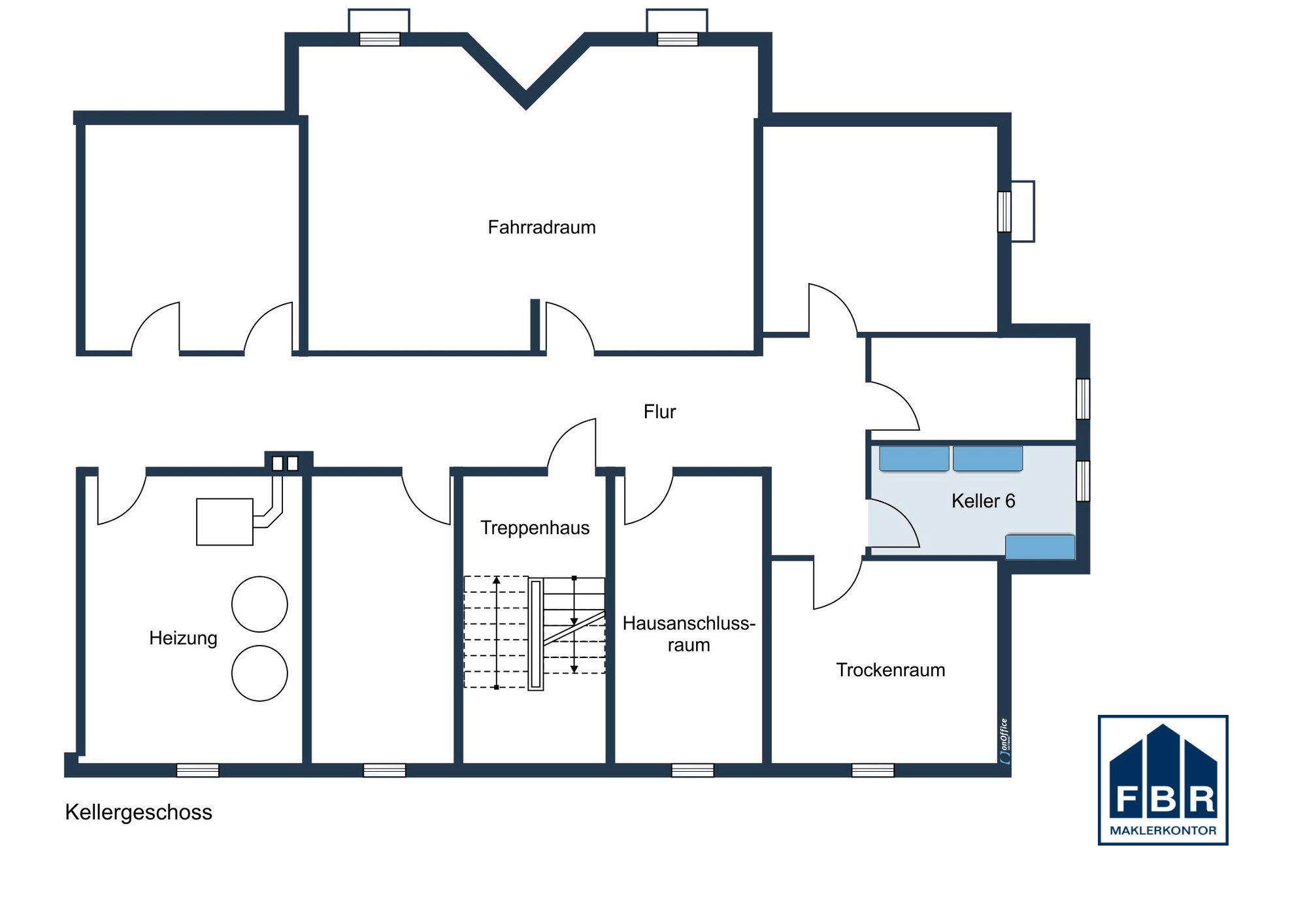 Grundrisszeichnung Kellergeschoss