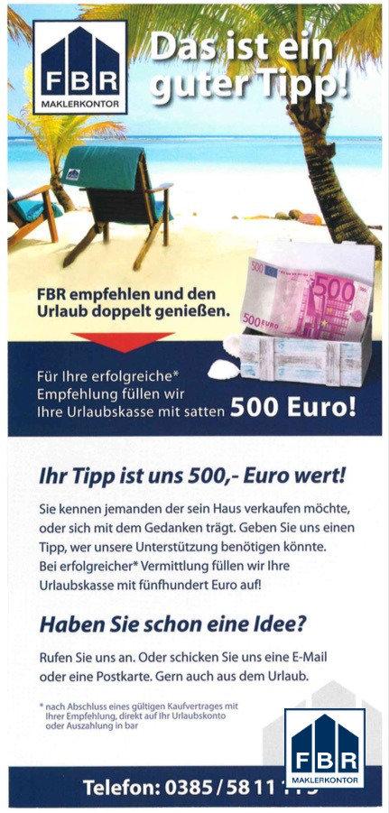 500 € für Sie!