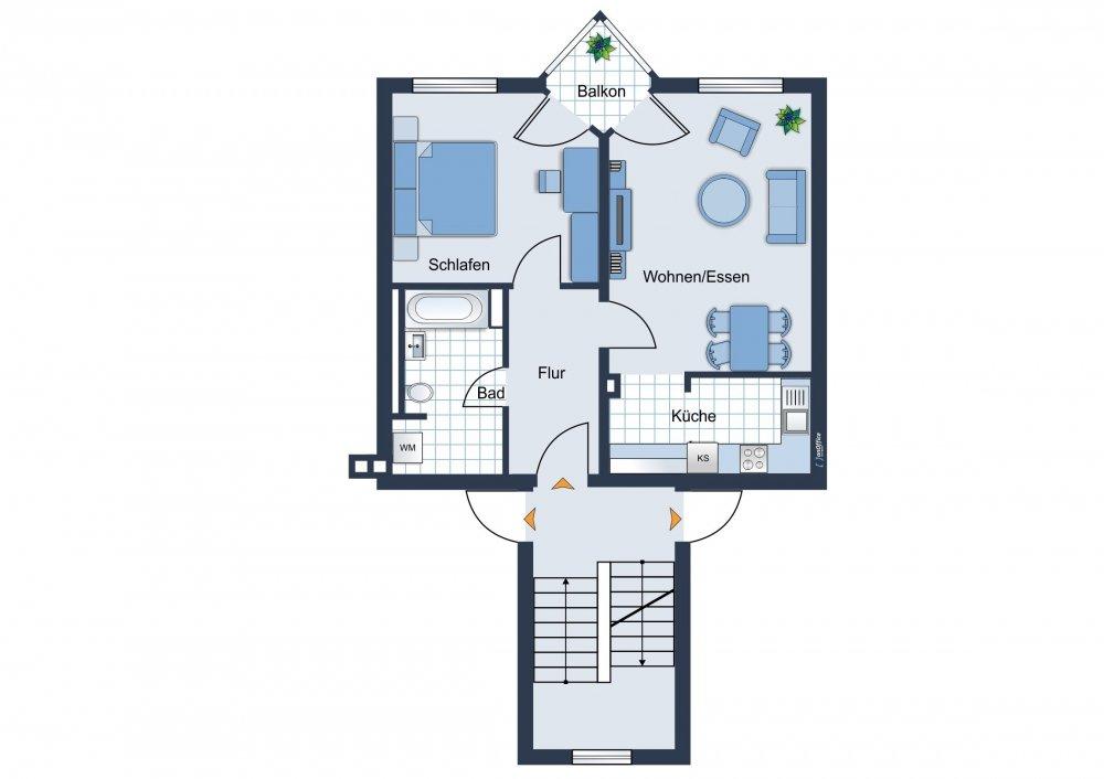 Wohnungsgrundrisszeichnung
