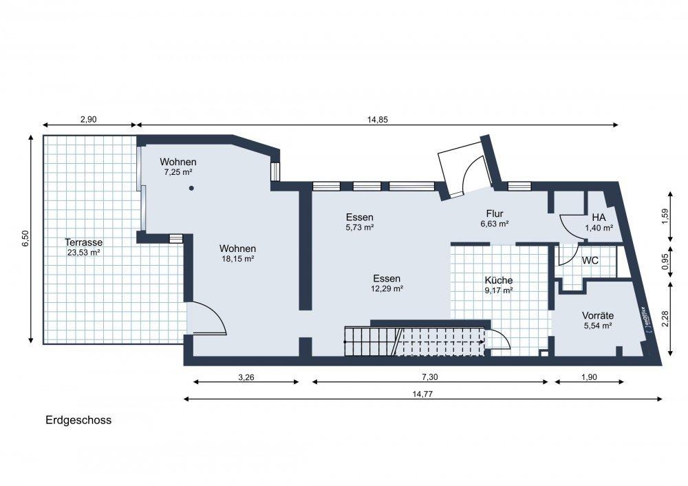 Grundrissvorschlag lt. Baugenehmigung